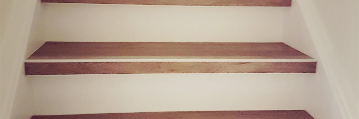 PVC trap met witte stootborden